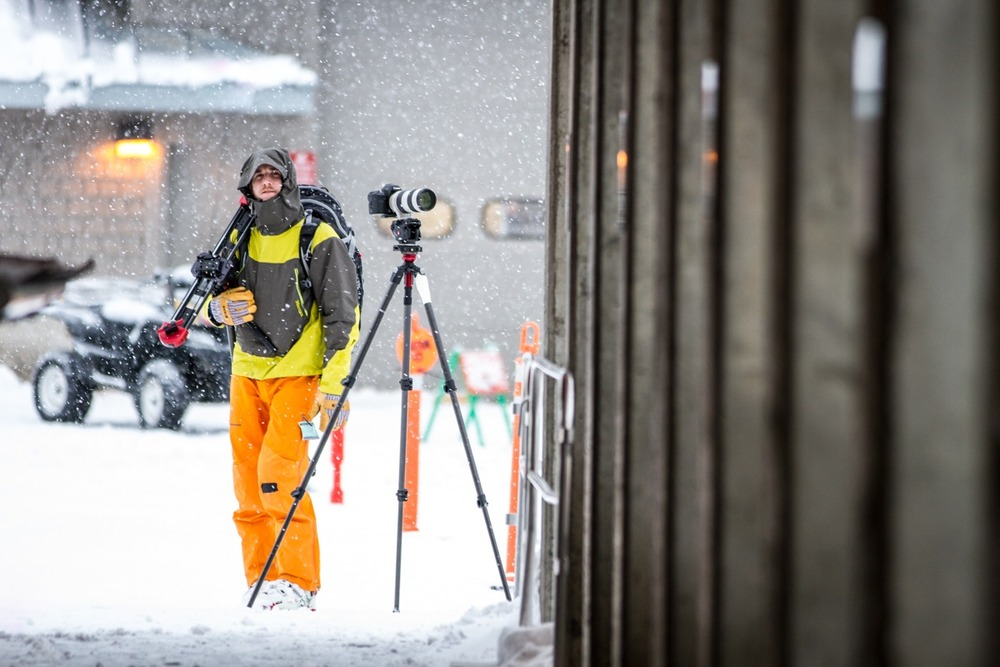Getting the perfect shot at Mt. Baker Ski Area.