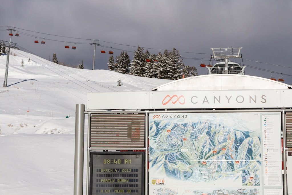 With 4,000 acres of skiable terrain, Canyons has terrain for any ability level. - ©Liam Doran