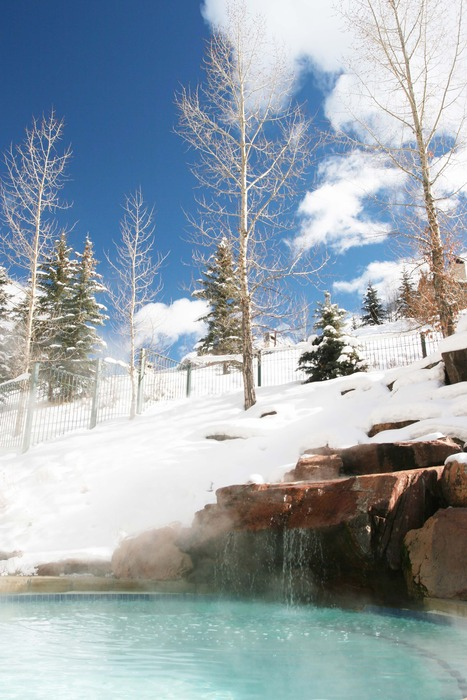 The outdoor tub at the Park Hyatt Beaver Creek Resort and Spa. - ©The outdoor tub at the Park Hyatt Beaver Creek Resort and Spa.