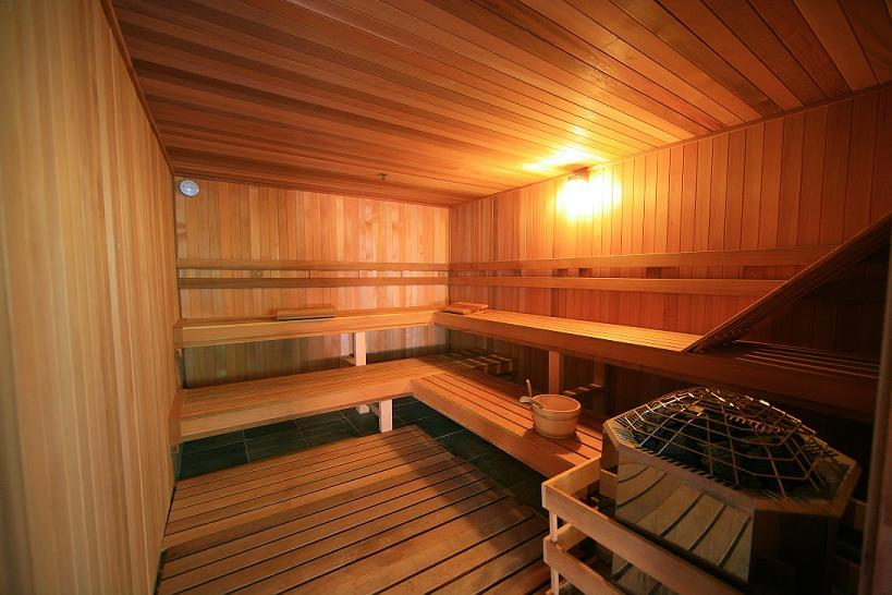 The dry sauna at the Edelweiss Lodge & Spa.