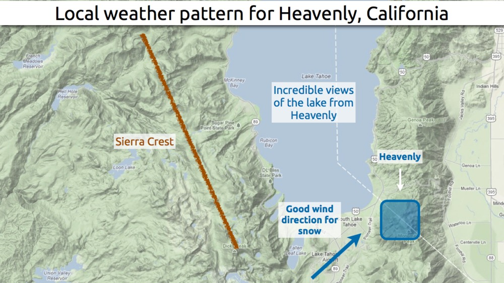 Learn how to predict snowfall totals at Heavenly. - ©OpenSnow.com