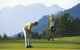 Golf course at Kitzbuehel in summer