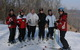 Six skiers pause for a photo at Wild Mountain, MN