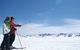 Two skiers enjoy the view of Grandvalira Andorra
