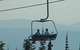 Riders on Whitefish chairlift