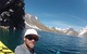 Travis out kayaking on Inca Lake with the Portillo Hotel in the background - ©Travis Ganong