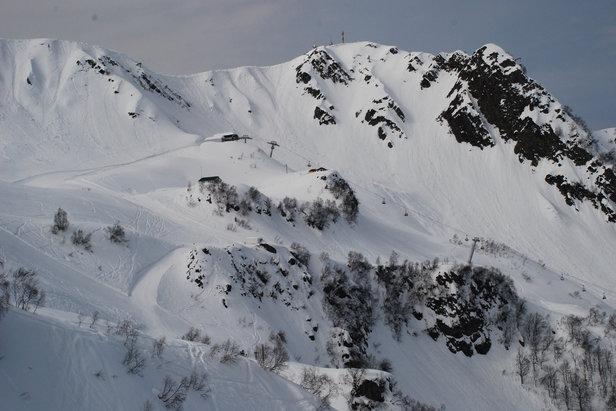 Skifahren im Skigebiet Rosa Khutor (RUS) - ©Christoph Schrahe
