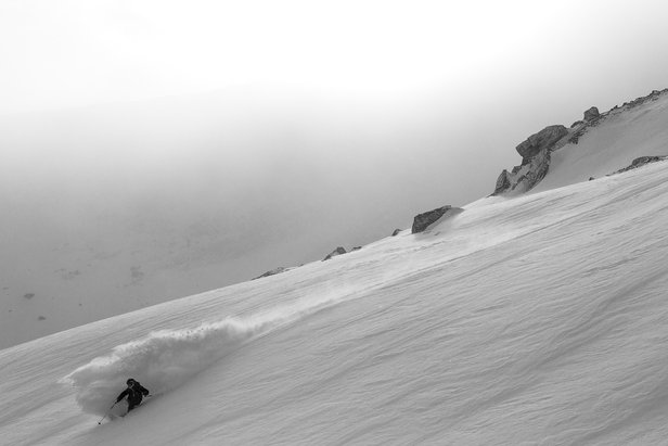 Mat Philippi enjoys fresh powder at La Parva, Chile