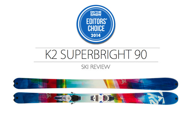 2014 Women's All-Mountain Editors' Choice Ski: K2 SuperBright 90