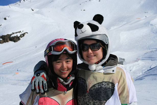 There's a panda loose on the slopes - ©Ben Ellis