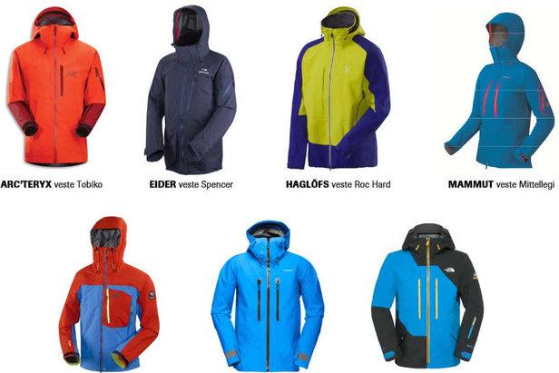 Quelques unes des vestes intégrant les laminés GORE-TEX® Pro - ©GORE-TEX®