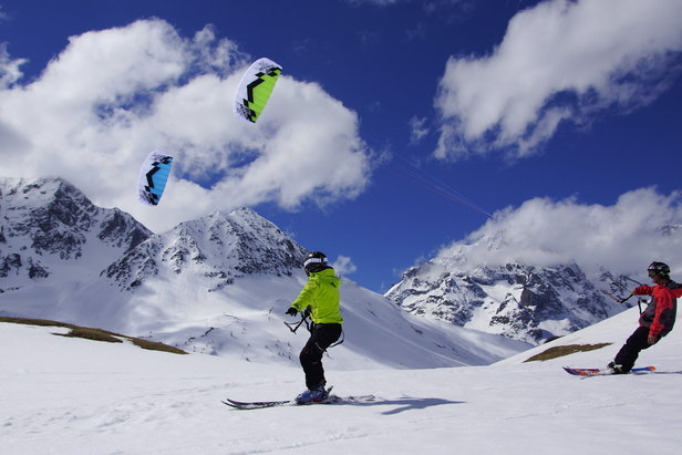 Snowkite al Passo Tonale