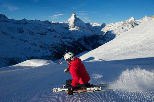First Track in Zermatt - ©Bergbahnen Zermatt