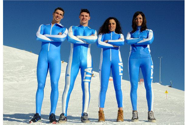 La divisa degli atleti italiani alle Olimpiadi invernali di Sochi 2014