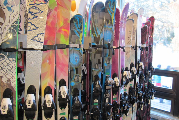 So many women's skis, so little time... - ©Heather B. Fried