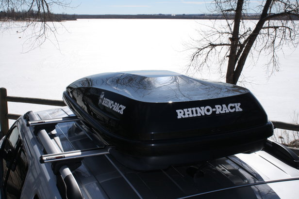 The Rhino-Rack RMFZ85 offers a cost-effective, high-quality cargo box for your next ski trip.  - ©Rhino-Rack