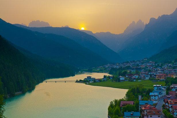 Auronzo, tramonto d'estate