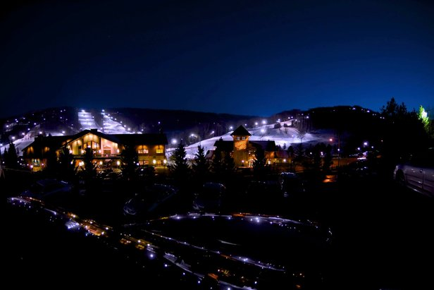 Holiday Valley offers great night skiing through 10pm.