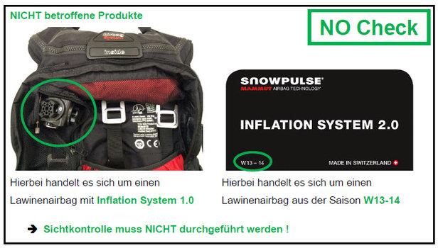 Aufruf zur Kontrolle: Nicht betroffene Produkte - ©Mammut