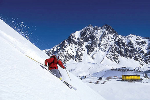 Summer ski resort: Nothing but powder and the iconic yellow hotel in Portillo, Chile.  - ©Portillo Ski