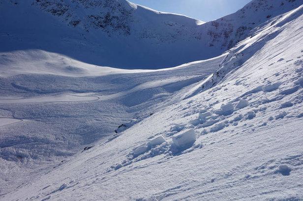 Slik så det ut i Indre Troms 18. mars - ©Kjetil Brattlien / NGI
