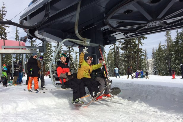 Loading the chair on opening day at Mt. Bachelor in Nov. 2014. - ©Mt. Bachelor Resort