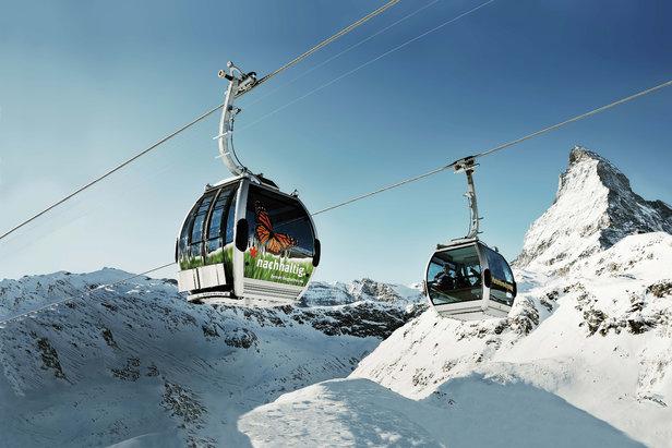 Zermatt - gondolka i Matterhorn - ©Zermatt Bergbahnen