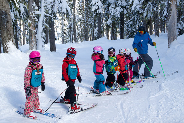 Kids in a ski school lesson at Whistler Blackcomb. - ©Toshi Kawano/Whistler Blackcomb