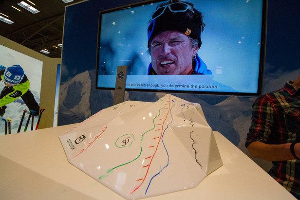 Ortovox hat für Schulungszwecke dieses Bergmodell entwickelt, an dem verschiedene Hangneigungen abgebildet werden - ©Skiinfo