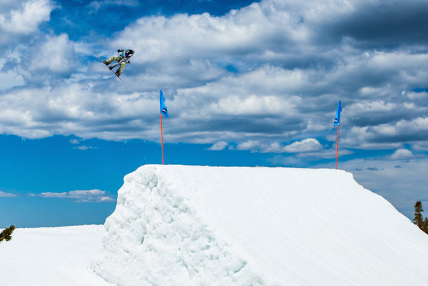 Eric Willet catches air at Mammoth Mountain. - ©Peter Morning/MMSA