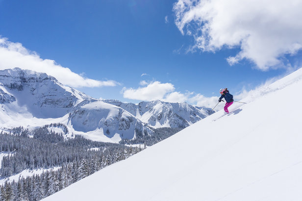 Bluebird conditions and awesome views in Telluride. - ©Telluride
