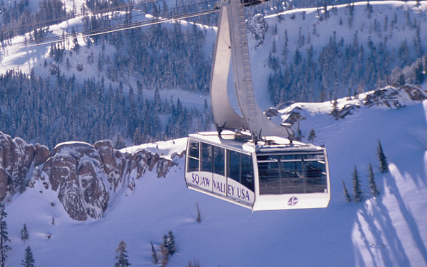 The cablecar over Squaw Valley, CA.  - ©Nathan Kendall.