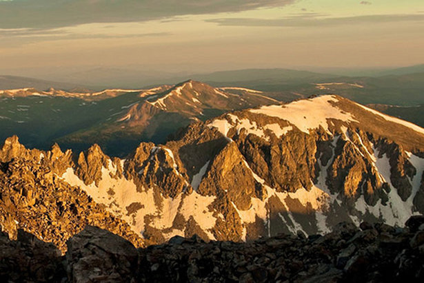 The jagged ridge of the Tenmile Range from Quandary Peak. - ©Stephen Duncan