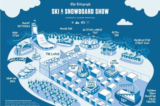 Map of the Ski & Snowboard Show London 2015 - ©Telegraph Ski & Snowboard Show
