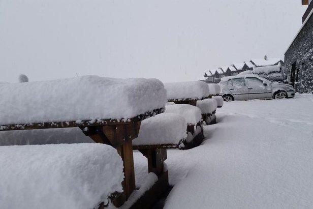 Schnee in Myrkdalen
