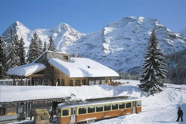 The Jungfrau ski region is only accessible by rail - ©Jungfrau.ch