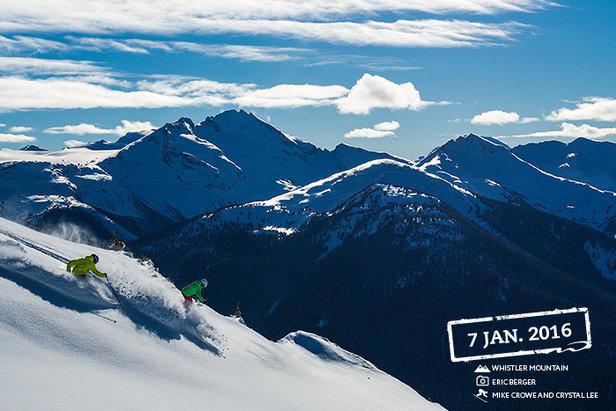 Powder is plentiful at Whistler this season. - ©Eric Berger