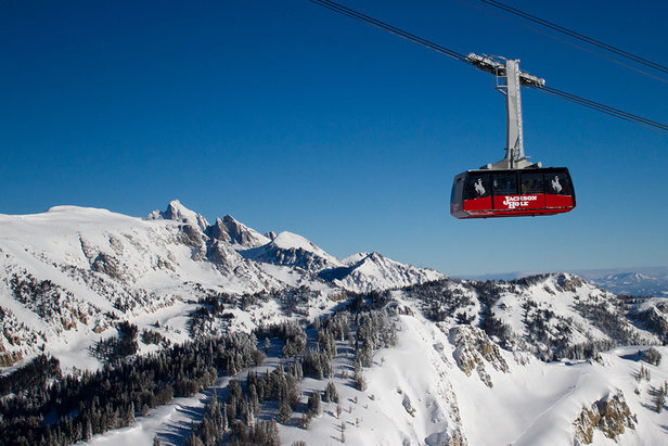Tram and Teton views at Jackson Hole Mountain Resort. - ©Jackson Hole Mountain Resort