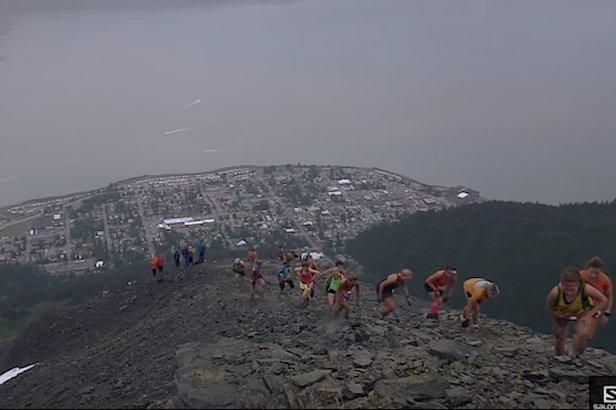 The climb up is the easy part when racing in the Mt. Marathon in Seward, Alaska. - ©Salomon Running TV