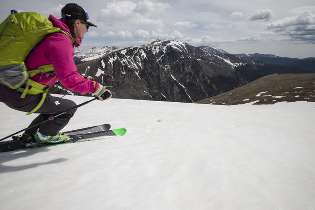 Summer turns on Sundance in Rocky Mountain National Park means great scenery, sun and soft snow. - ©Liam Doran