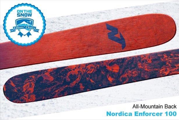 Nordica Enforcer 100, men's 16/17 All-Mountain Back Editors' Choice ski. - ©Nordica