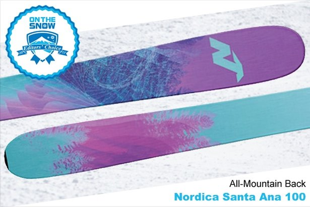 Nordica Santa Ana 100, women's 16/17 All-Mountain Back Editors' Choice ski. - ©Nordica