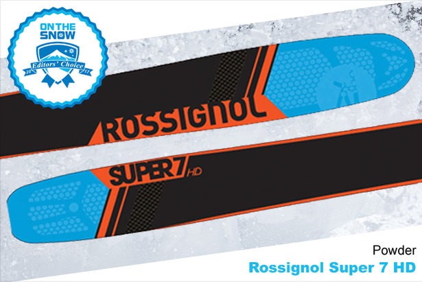 Rossignol Super 7 HD, men's 16/17 Powder Editors' Choice ski. - ©Rossignol