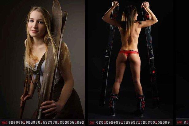 Kalender Land Kreuz Nackt Skifahren