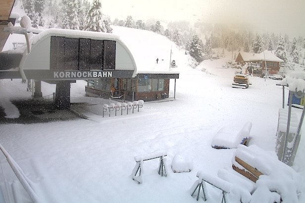 Snehové správy: Nový sneh v Rakúsku, počas víkendu otvárajú ďalšie strediská - ©Webcam Turracher Höhe