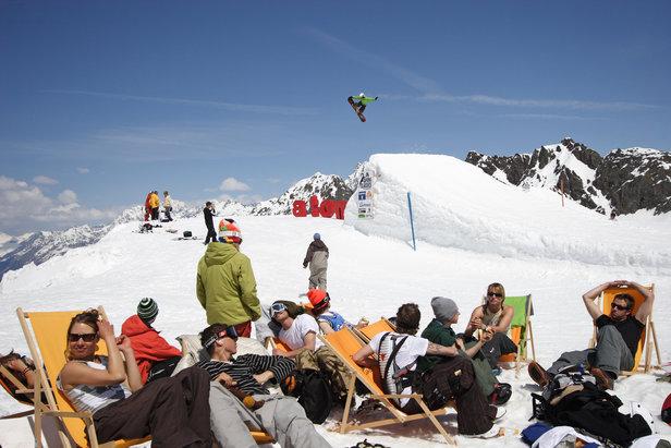 Kaunertaler Gletscher AUT sunny spring