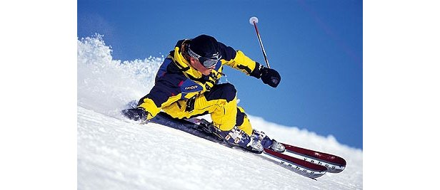 Serfaus - Fiss - Ladis - skier in yellow
