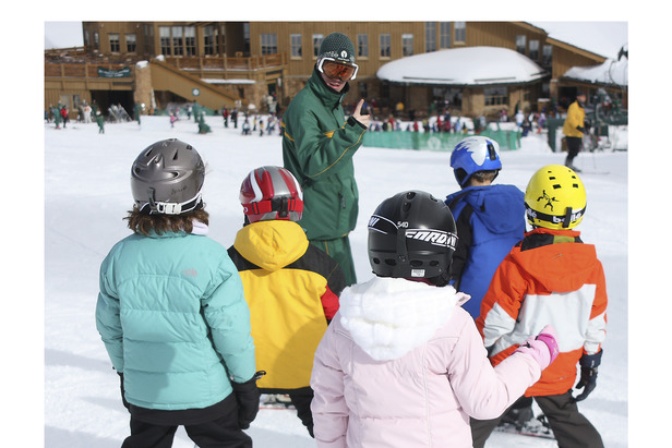 Kids at Ski School