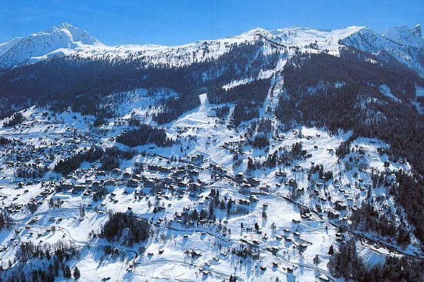 Tzoumaz village aerial