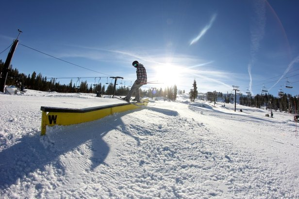 Skier Kyle Murphy enjoying the early season snow at Boreal. - ©Boreal Mountain Resort